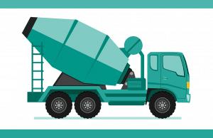 Camion, Camion Bétonnière, Lourds, La Construction