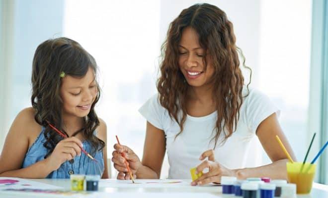 Atelier peinture en famille